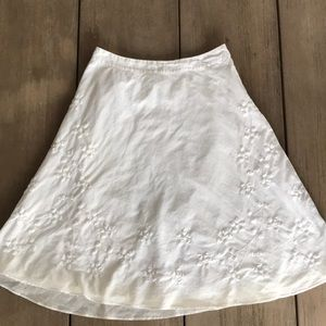 BANANA REPUBLIC white A-line skirt, 4